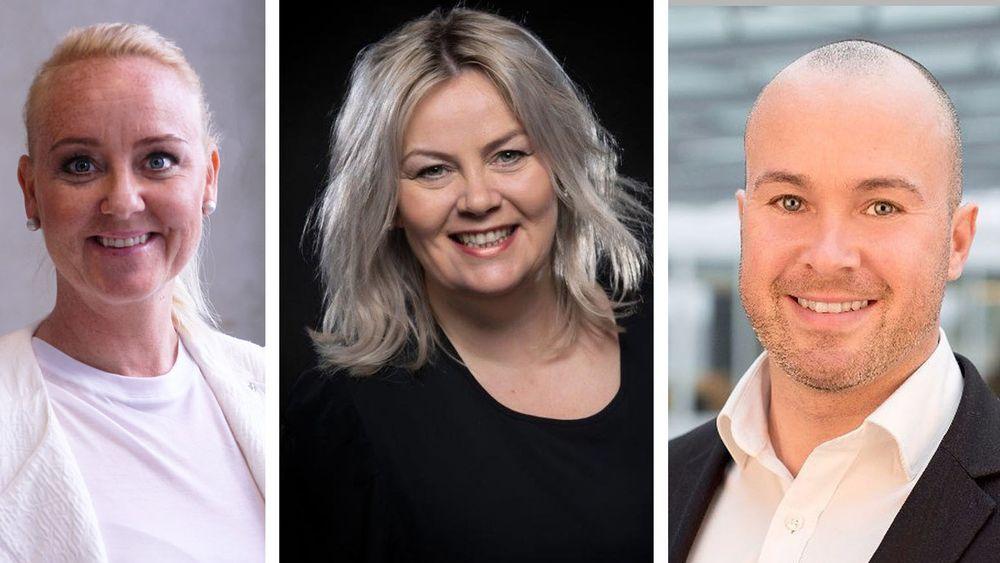 Hodejegerne Hanne Holst (t.v), Mette Marklund og Jan Arve Brendberg deler sine beste råd.