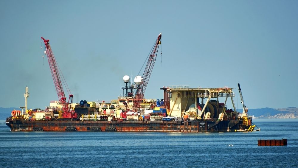 Den amerikanske kongressen vedtok nylig amerikanske sanksjoner mot alle som bidrar til byggingen av den russiske gassrørledningen Nord Stream 2. Bildet er tatt under legging av rørledningen.