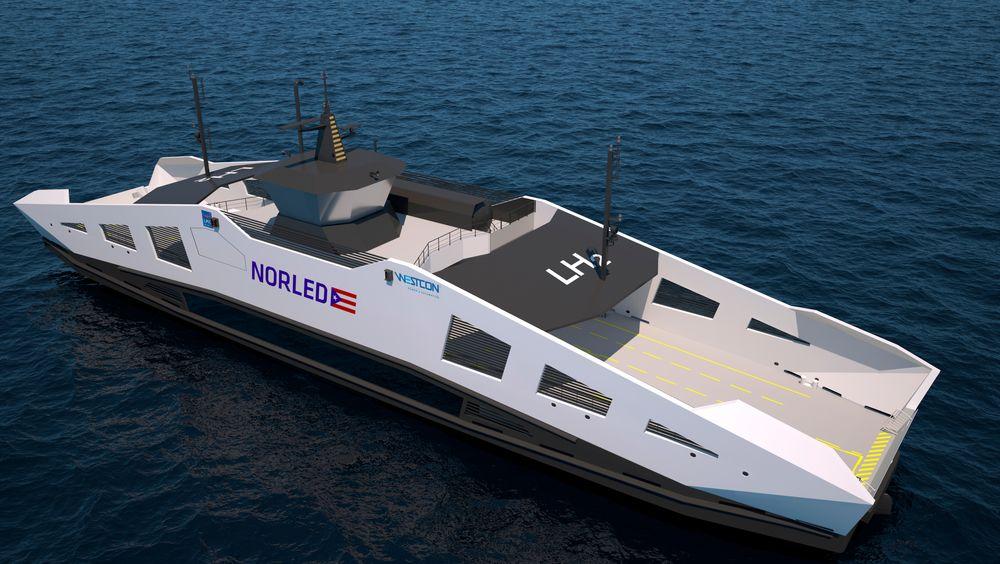 Ny teknologi i blant annet norske ferger har vært sentralt for TUs maritimjournalistikk i år. Hydrogenfergen til Norled skal inn på Rv13 Hjelmelandsambandet i 2021-22.