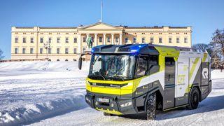 Oslo kommune har bestilt en elektrisk Rosenbauer CFT brannbil.