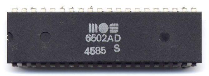 Mikroprosessoren MOS 6502.