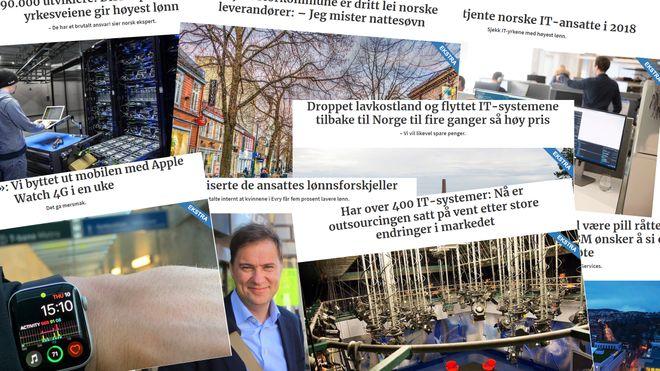 Faksimiler av noen av de mest leste Digi Ekstra-sakene i 2019.