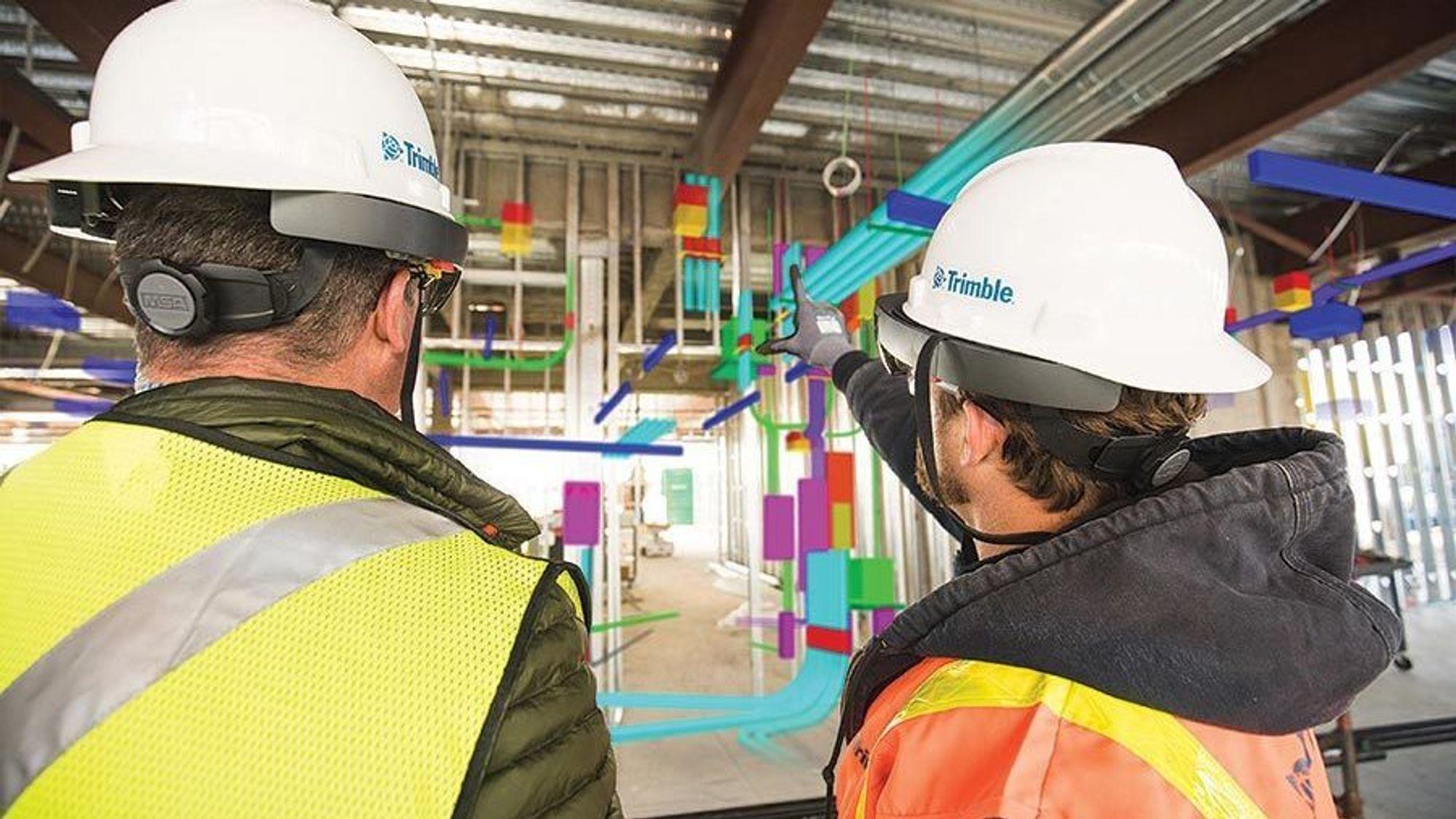 Trimble Connect bruker Microsofts Hololens-briller til sine virtuelle applikasjoner for byggebransjen.