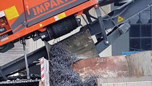 Arjes impaktor 250 gjenvinning betong stål armeringsjern