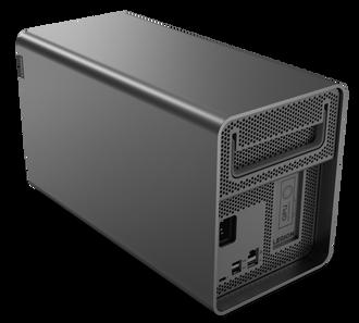 Lenovo Legion Booststation er en eGPU – kabinett for eksternt grafikkort, som kobles til via Thunderbolt 3.