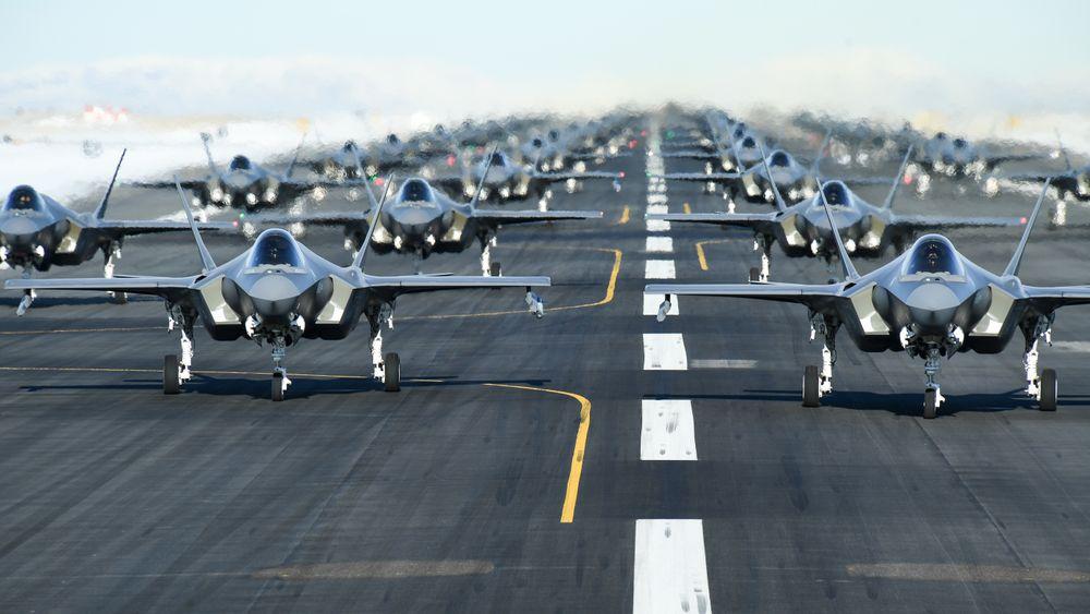 Hele 52 F-35A var samlet på rullenbanen på flybasen Hill samtidig i forbindelse med «Combat Power Exercise» i januar i år.