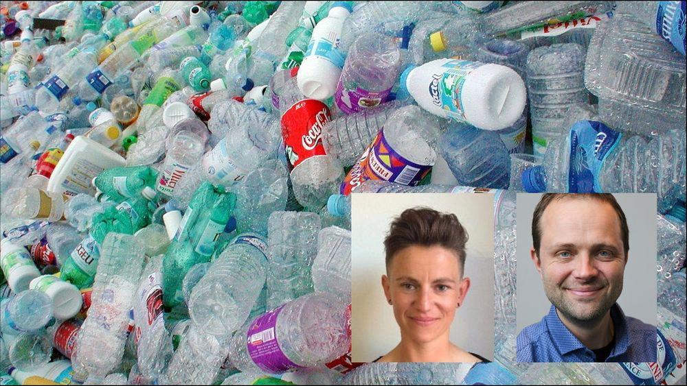 sneakers av havplast, løser ikke plastproblemet, sier Anne Aittomaki i NGO-en Plastic Change og Kristian Sydnes ved Roskilde Universitet.