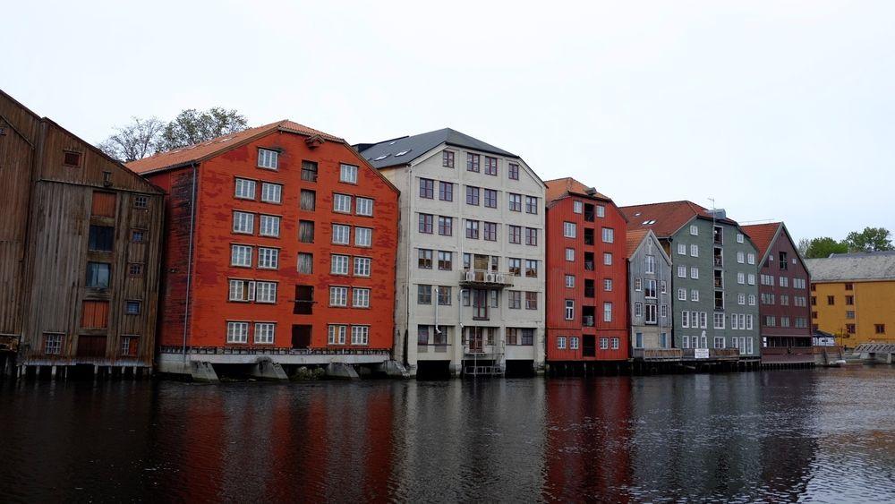 Mye vind i en periode med lite strømforbruk ga rekordlave priser over store deler av Skandinavia, blant annet her i Trondheim.