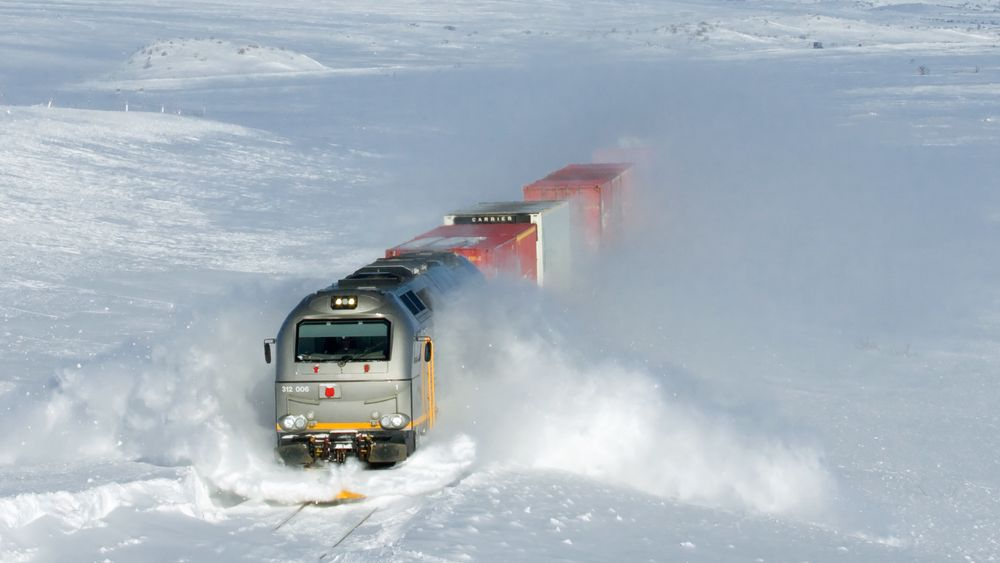 Det var et CargoNet-lokomotiv av samme type som var utsatt for bremsesvikt på Hønefossbanen i 2019. Dette bildet er av CD 312 006 på Saltfjellet.