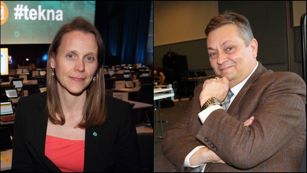 Tekna-president Lise Lyngsnes Randeberg og Nito-president Trond Markussen.