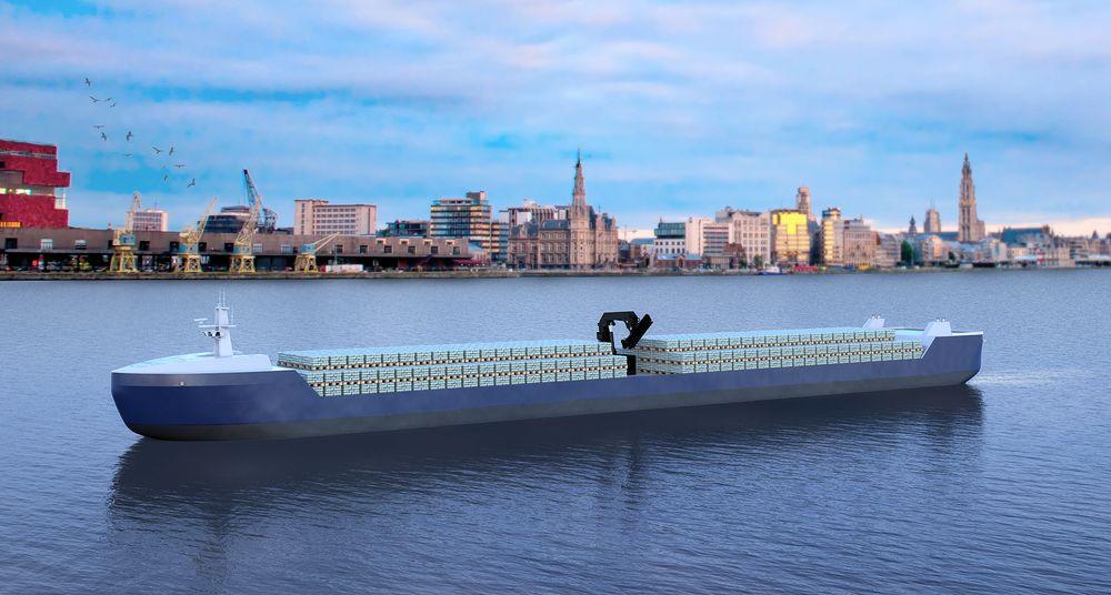 Blue Line Logistics i Belgia vil ha flere mindre, autonome fraktefartøy som kan trafikkere vannveiene i Europa og anløpe små havner for å unngå flaskehalser.
