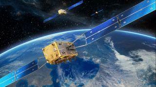 Galileo-satellittene kretser på 23 222 kilometers høyde.