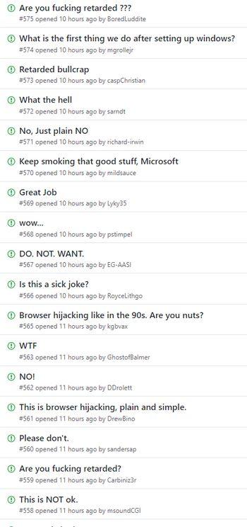 Reaksjoner på at Office 365 ProPlus skal tvangsinstallere en Bing-utvidelse i Chrome.