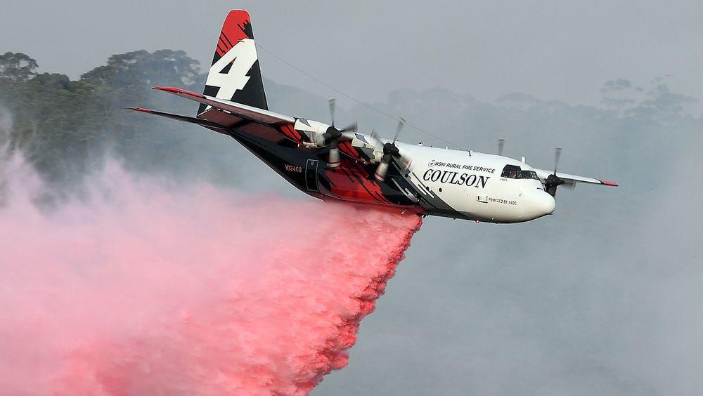 Det var dette C-130 Herculesflyet, N134CG, som havarerte i Australia torsdag. Dette bildet ble tatt 10. januar 2020.