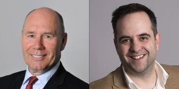 Tor W. Andreassen (t.v.) og Bram Timmermans. Begge er tilknyttet The Hub @ NHH