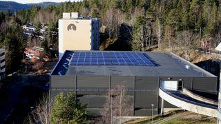 Røverkollen borettslag Green Charge elbil lading solceller batterier smart styring fortum oneco
