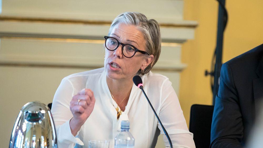 Maria Moræus Hanssen gikk av som toppsjef i oljeselskapet DEA i Hamburg i fjor høst. Her fra en topplederkonferanse i 2018.