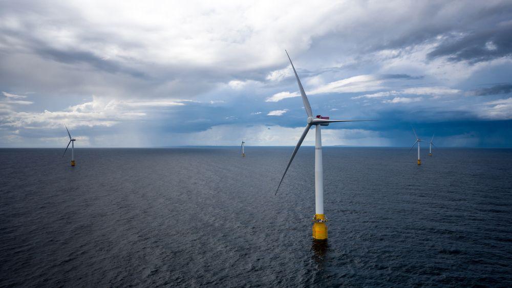 Equinors Hywind Buchan vindmølleanlegg utenfor Skottland