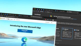Personverninnstillinger i Microsofts Chromium-baserte Edge-nettleser.