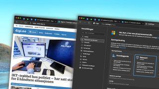 Den nye Chromium-baserte versjonen av Microsoft Edge støtter «dark mode».