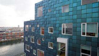 Med 12.000 solcellepaneler i veggene og dyrking av grønnsaker på taket, lærer elevene bærekraft