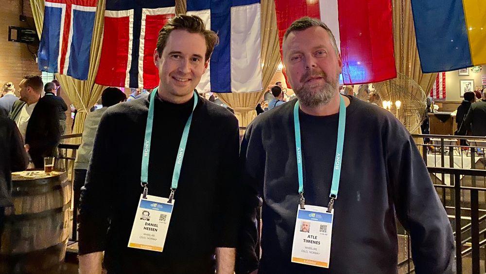 Daniel Hessen og Atle Timenes i Wheel.me ble eksponert på selveste BBC. Den norske startupen vil flytte møbler, sykehussenger og annet på autonomt vis.