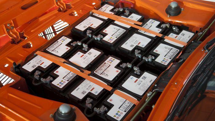 BMWs elektriske OL-bil hadde 12 vanlige bilbatterier som energikilde.