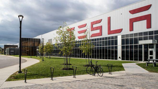 Bildet viser Tesla Gigafactory 2 i USA.