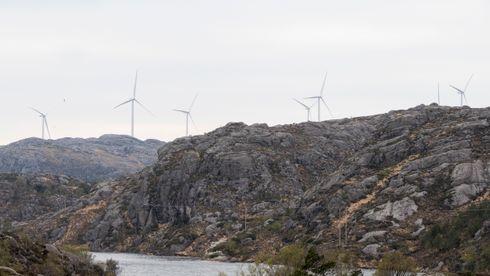 Rekordhøy vindkraftproduksjon i Norge i fjor