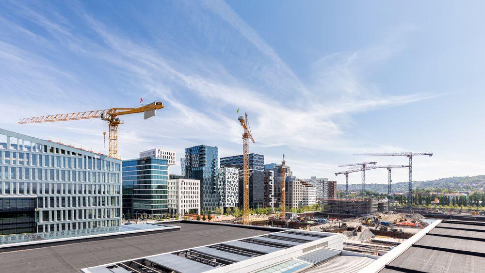 I Bjørvika i Oslo skal bygningsarbeidere være sikret kvinne- og herregarderober.