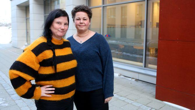 Pedagogisk leder Hege Eriksen og styrer Lisbeth Aasgård i Læringsverkstedet Bodøsjøen Naturbarnehage var to av deltagerne under den første Barnas verneombud-samlingen.