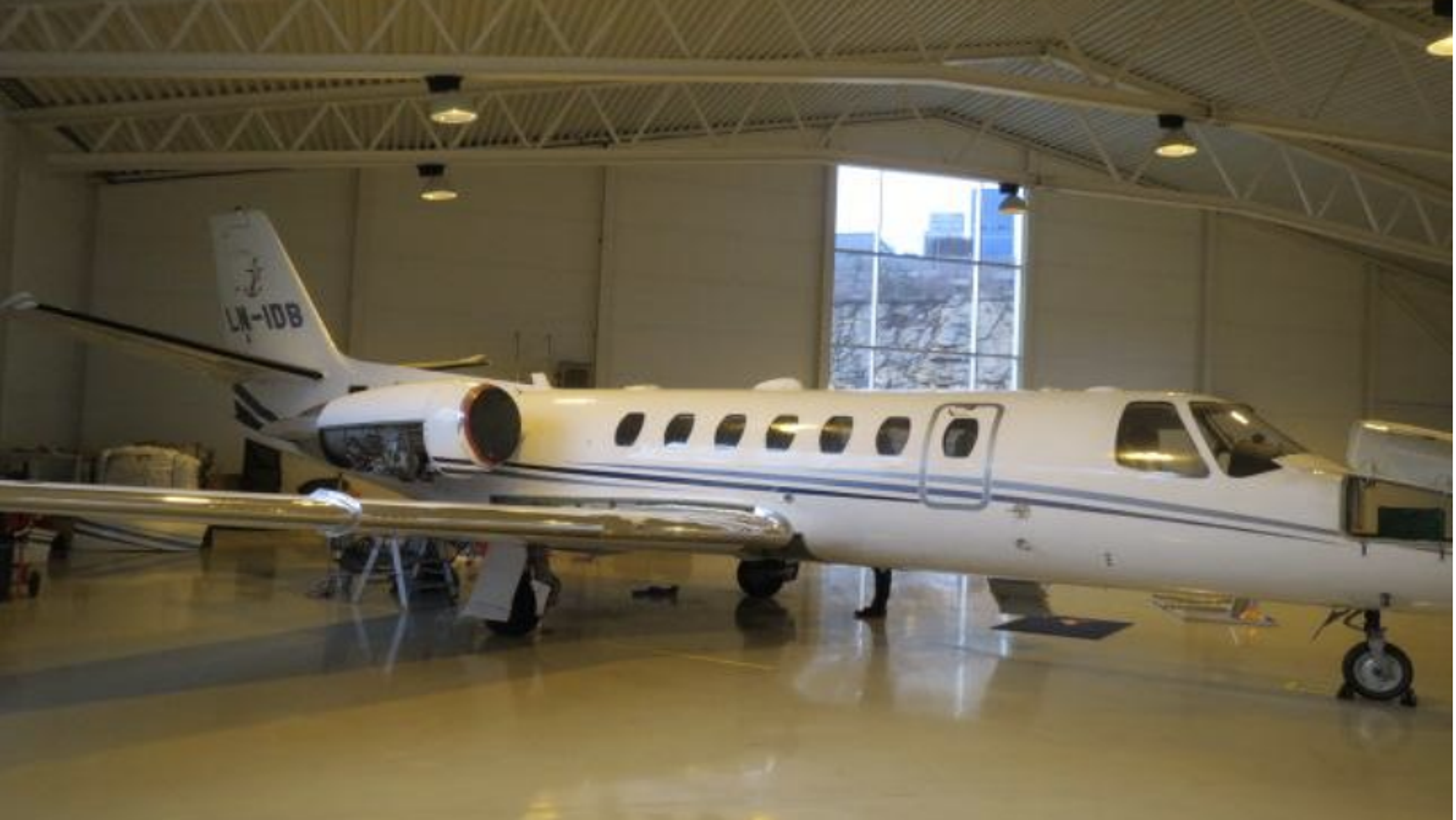 Dette Cessna 560 Encore-flyet, produsert i 2003, ble såpass skadet at det ikke var regningssvarende å reparere det.