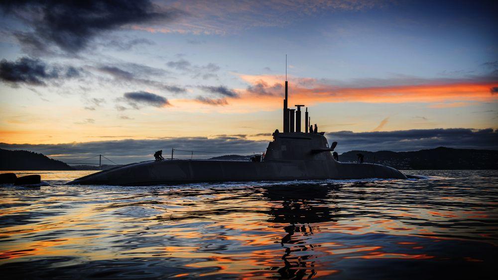 U-32, som var den første ubåten i 212A-klassen og ble tatt i bruk 19. oktober 2005, i Bergen høsten 2016.
