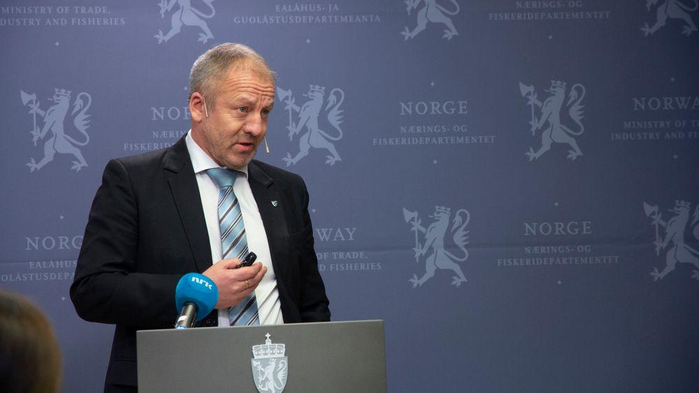 Fiskeri- og sjømatminister Geir-Inge Sivertsen.