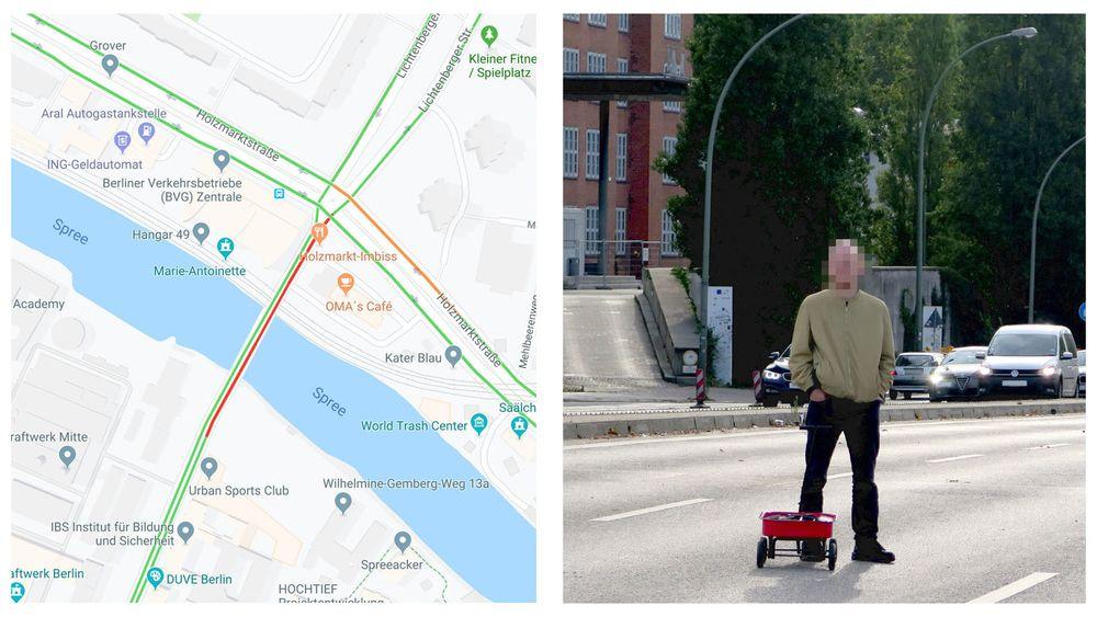 Dirigerte Vekk Bilister Google Maps Tolket Tralle Med Brukte