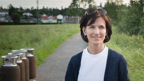 Microsofts Norgessjef Kimberly Lein-Mathisen, Sopra Steria-sjef Kjell Rusti. Bildet er tatt like etter landing med Sopra Sterias luftballong tidligere i sommer.