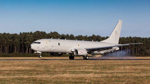 Klar for tett samarbeid med Norge: Britenes første P-8 Poseidon har fløyet hjem