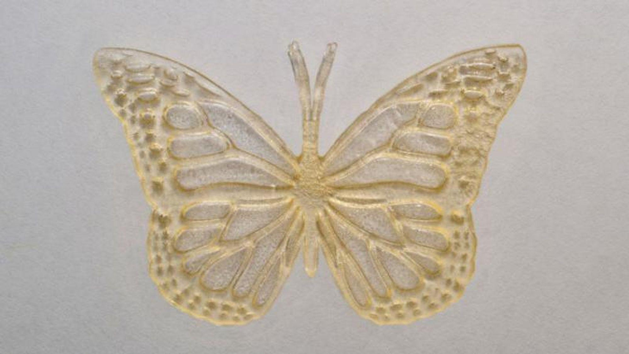 3D-utskrevet sommerfugl fra laboratoriet i Toronto.