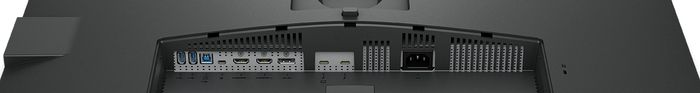 Tilkoblinger på baksiden av skjermen.