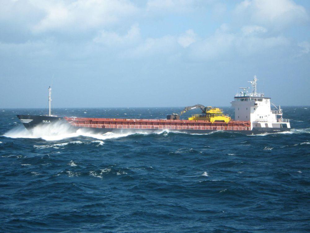 MV Sula er en selvlosser bygget i 1993. Hun er dermed litt eldre enn gjennomsnittet for nærskipsflåten, det vil si 24,5 år.