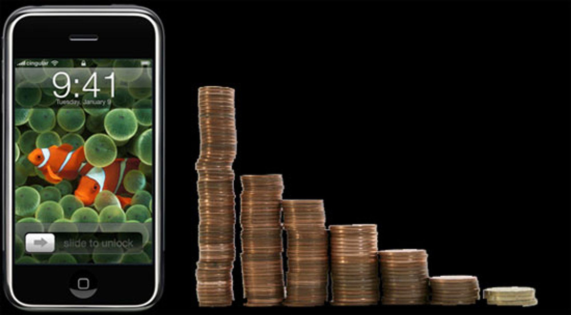 Apple kan tjene mye på iPhone.