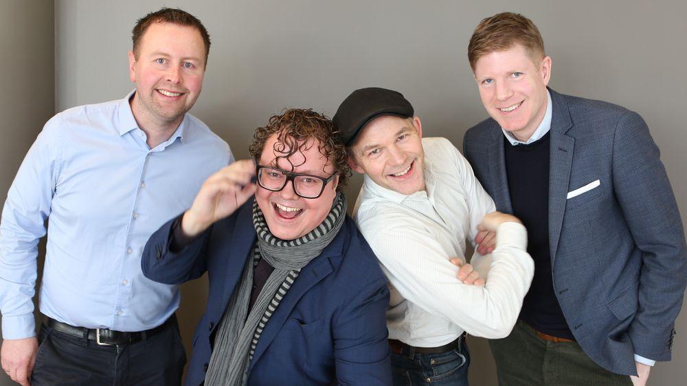 Smarte gutter (fra venstre):  Per Magnus Haugen Presthammer, Magnus Brøyn, Erik Alfred Tesaker og Bernt Nordby Skøien.