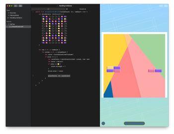 Swift Playgrounds inneholder en rekke morsomme kode-kurs, som her hvor du skal lage et enkelt Breakout-spill.