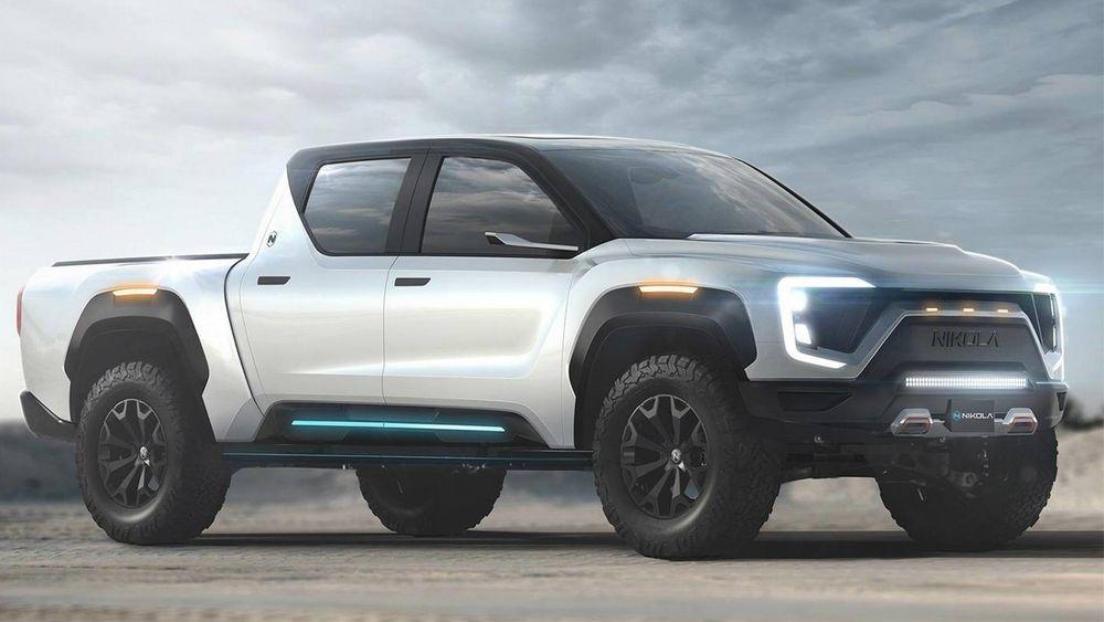 Ifølge Nikola vil pickup-batteriene gi en rekkevidde på litt over 48 mil som kompletteres med samme avstand fra rekkeviddeutvidelsen.