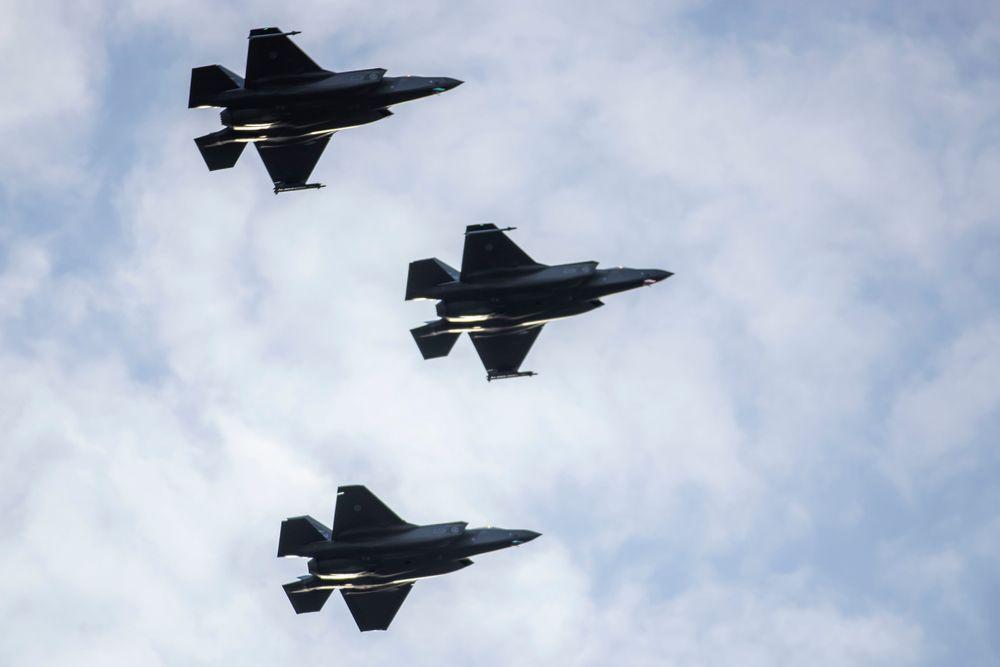 Norge sender fire F-35 jagerfly på skarpt oppdrag til Island.