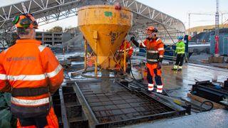Nye Stavanger Universitetssykehus får betongsøylene støpt på byggeplassen
