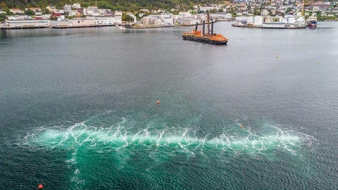Slik dempes sprengningsstøy under vann: Bruker bobler som skjold
