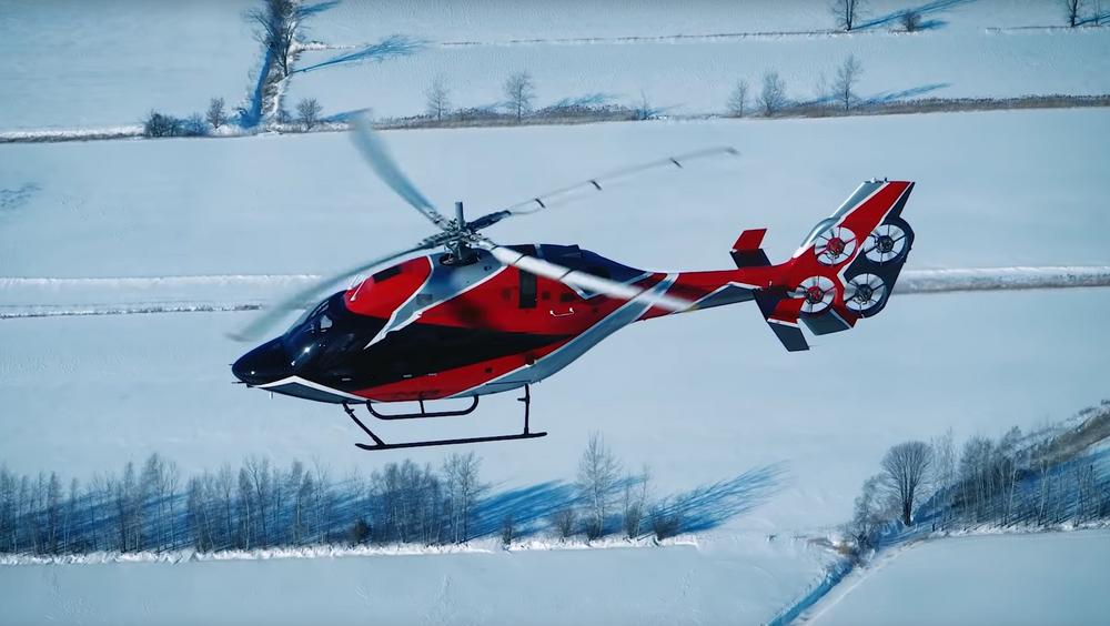 Testing av Bell 429 med EDAT-halerotor i Canada.