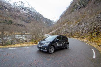 Seat Mii Electric er en veldig liten bil med plass til to voksne og to barn.