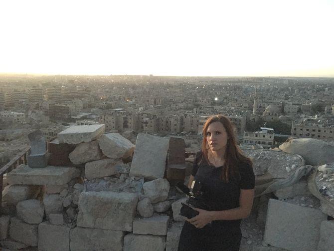 Kristin Solberg i Aleppo.